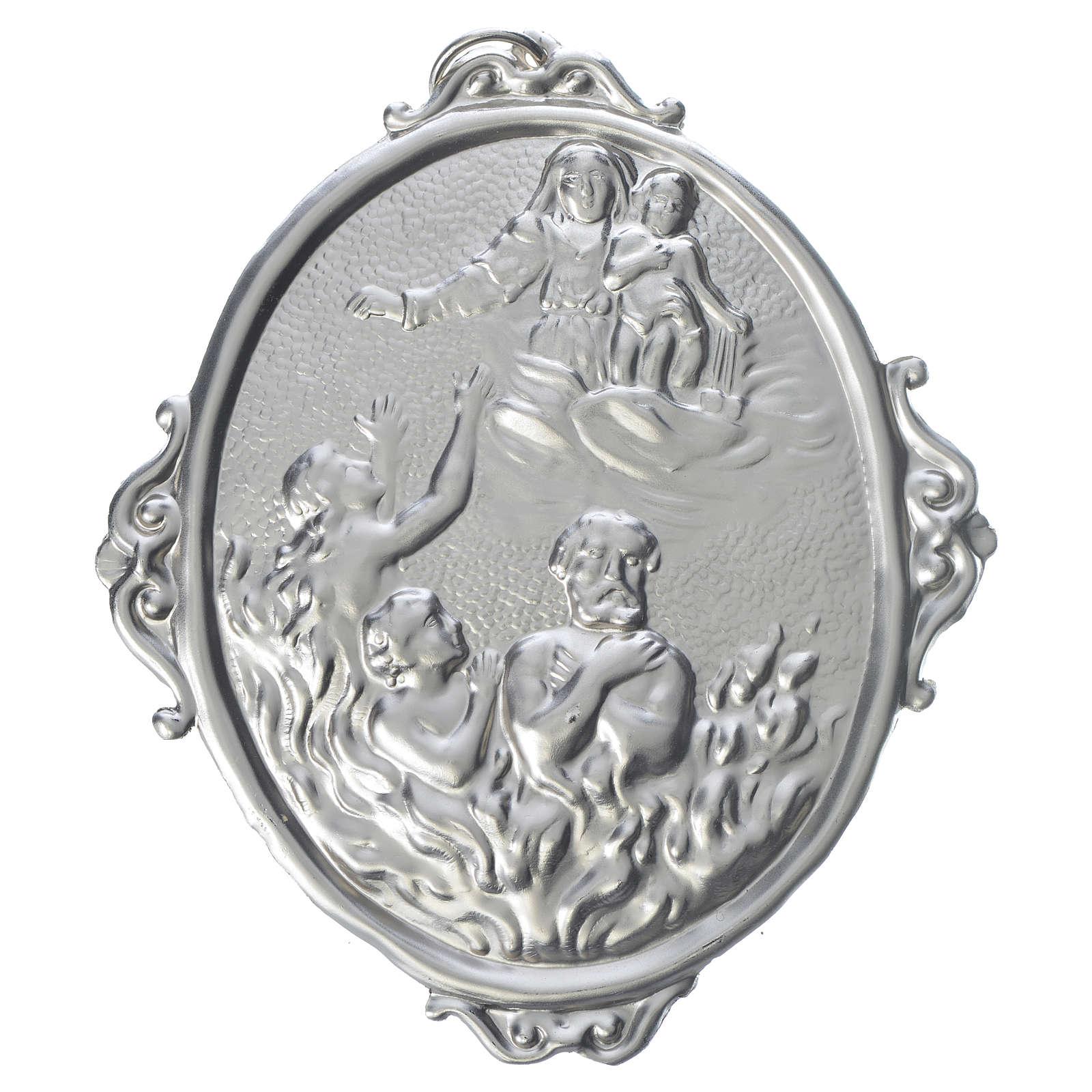 Medalla cofradía Almas del purgatorio y Virgen 3