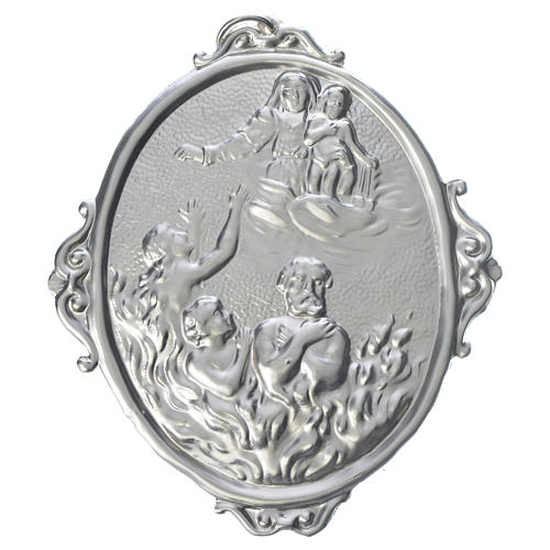Medalla cofradía Almas del purgatorio y Virgen 1