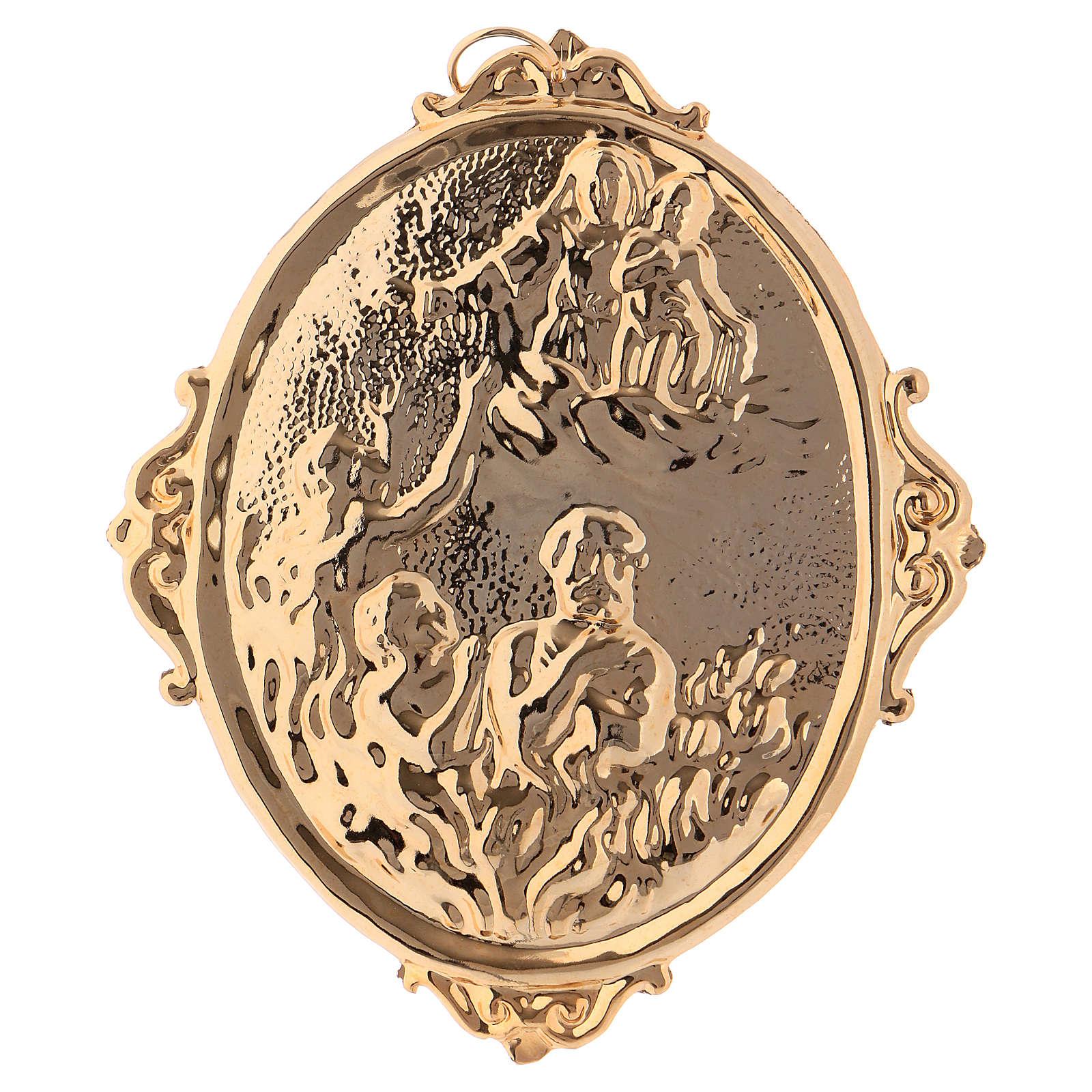 Médaille confrérie laiton Vierge et âmes du Purgatoire 3
