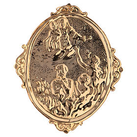 Médaille confrérie laiton Vierge et âmes du Purgatoire s2
