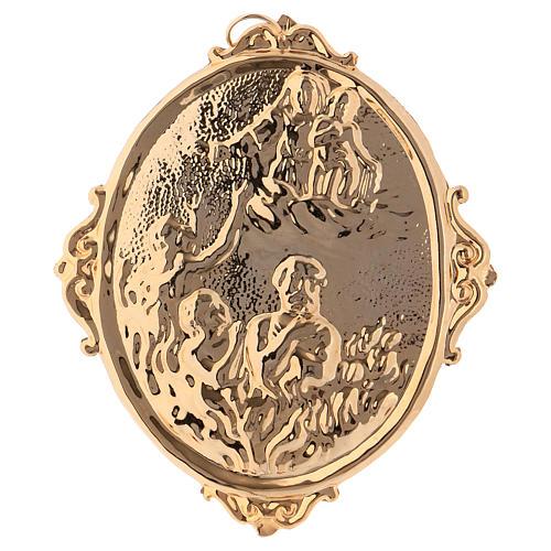 Médaille confrérie laiton Vierge et âmes du Purgatoire 1