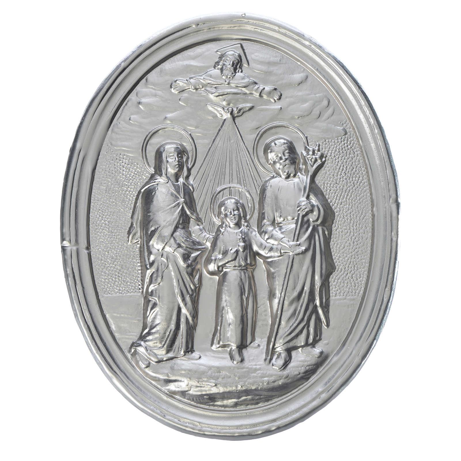 Medaglione confraternite Sacra Famiglia con Trinità 3