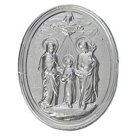 Medaglione confraternite Sacra Famiglia con Trinità s1
