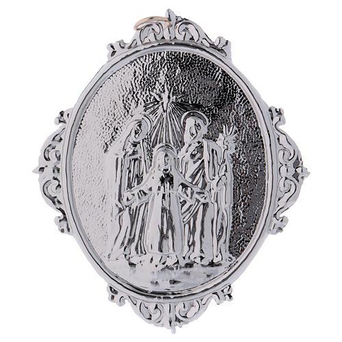 Medaglione confraternite Sacra Famiglia con Trinità 1