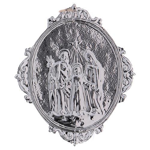 Medaglione confraternite Sacra Famiglia con Trinità 2