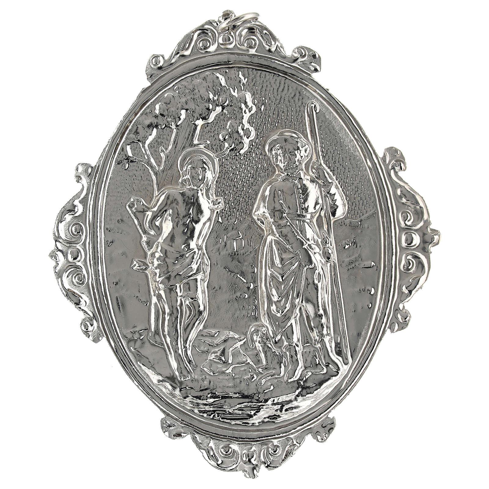 Medalhão de irmandade latão Santos Roque e Sebastião 3