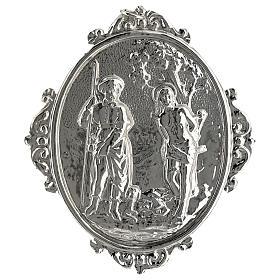 Medalhão de irmandade latão Santos Roque e Sebastião s1