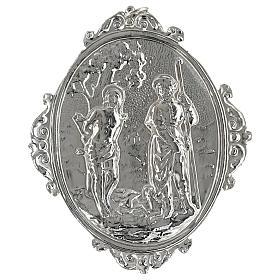 Medalhão de irmandade latão Santos Roque e Sebastião s2