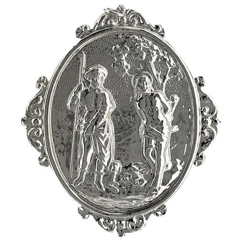 Medalhão de irmandade latão Santos Roque e Sebastião 1