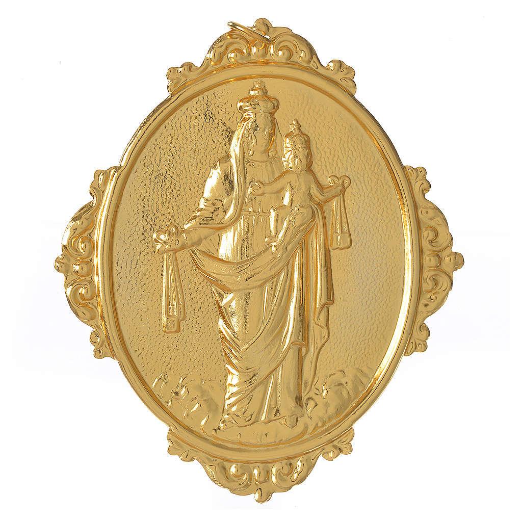 Médaillon confrérie laiton Notre-Dame du Mont-Carmel 3