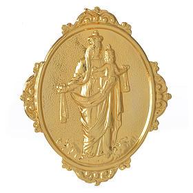 Médaillon confrérie laiton Notre-Dame du Mont-Carmel s1
