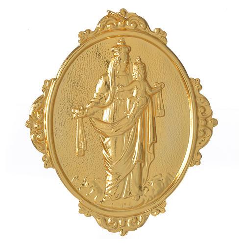 Médaillon confrérie laiton Notre-Dame du Mont-Carmel 1
