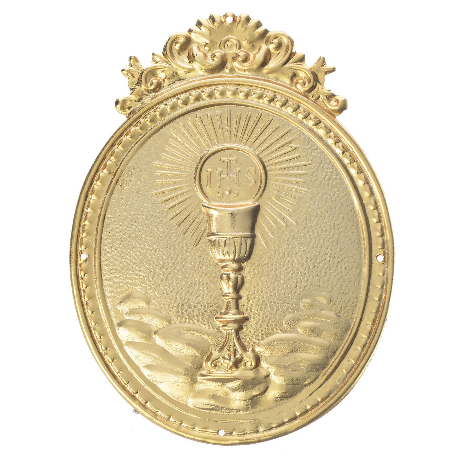 Medalla cofradía Cáliz con hostia y IHS 3