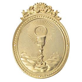 Medalla cofradía Cáliz con hostia y IHS s1