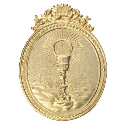 Medalla cofradía Cáliz con hostia y IHS 1