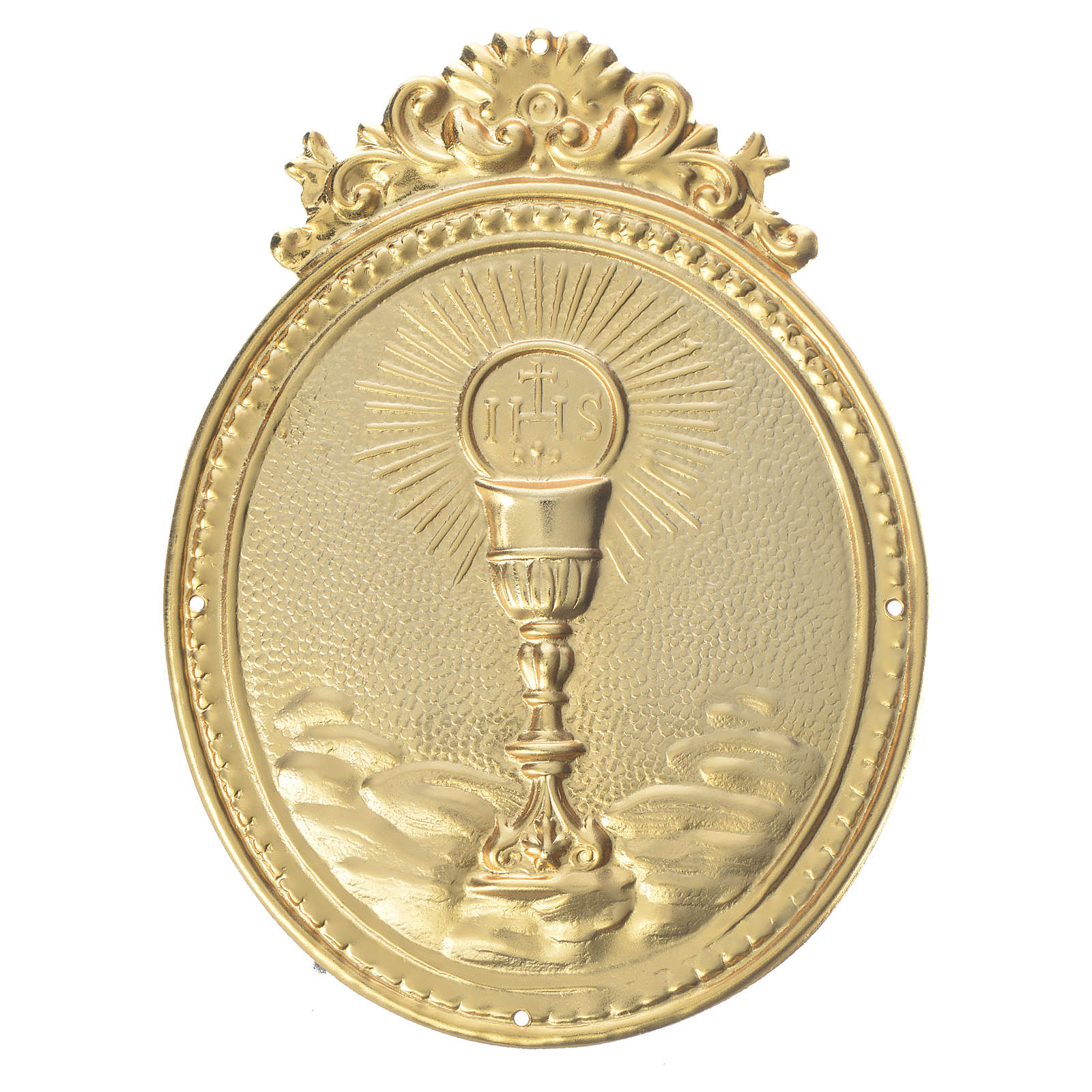 Confraternity Medal, Chalice with host and IHS 3