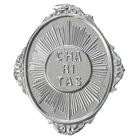 Médailles confréries et associations: Médaillon confrérie laiton Charitas avec rayons