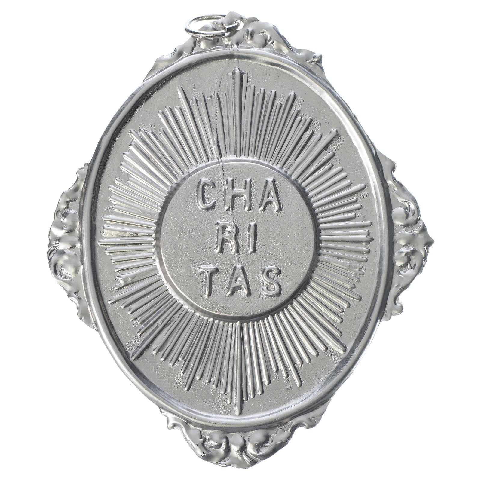 Medaglione per confraternita Caritas con raggi 3