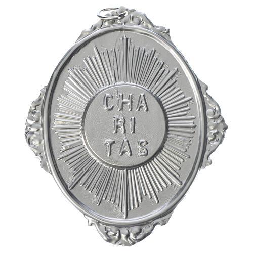 Medaglione per confraternita Caritas con raggi 1
