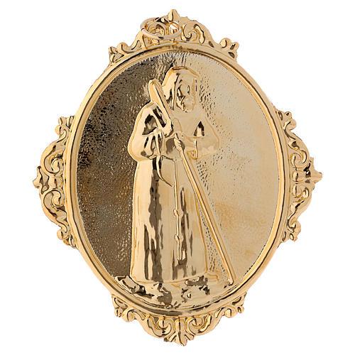 Médaillon confrérie laiton St François de Sales 1