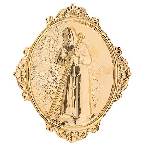 Médaillon confrérie laiton St François de Sales 2
