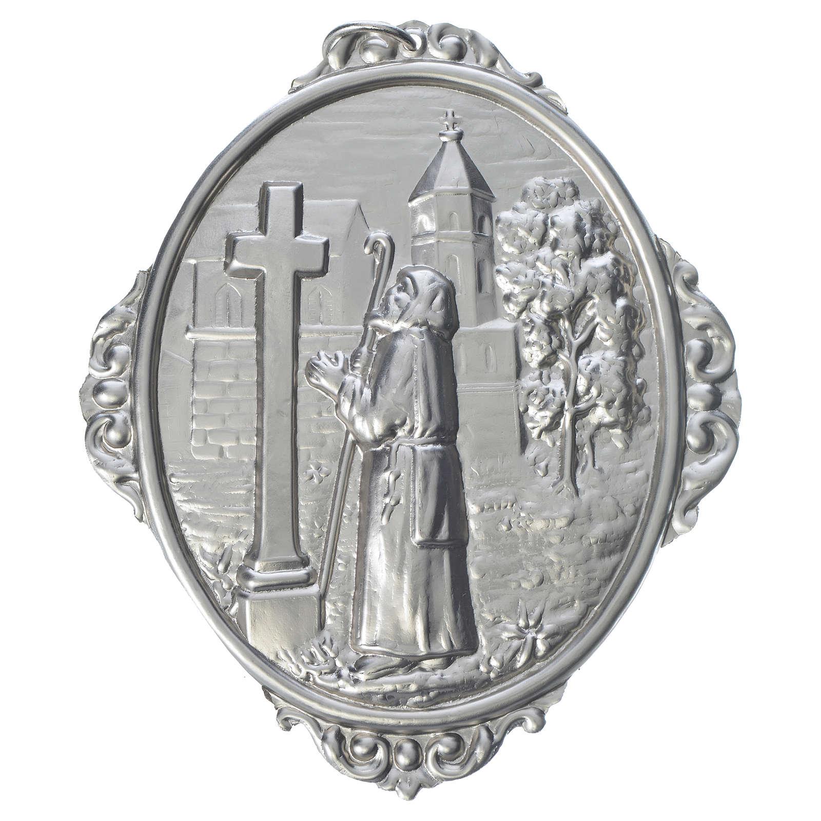 Medalla cofradía San Francisco de Sales rezando 3