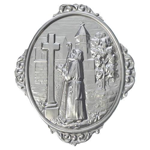 Medalla cofradía San Francisco de Sales rezando 1
