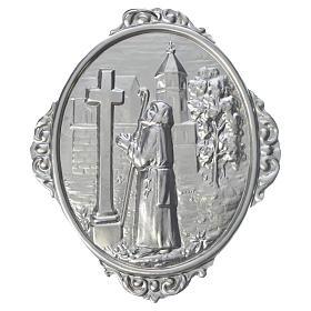 Medaglione per confraternita San Francesco di Sales in preghiera s1