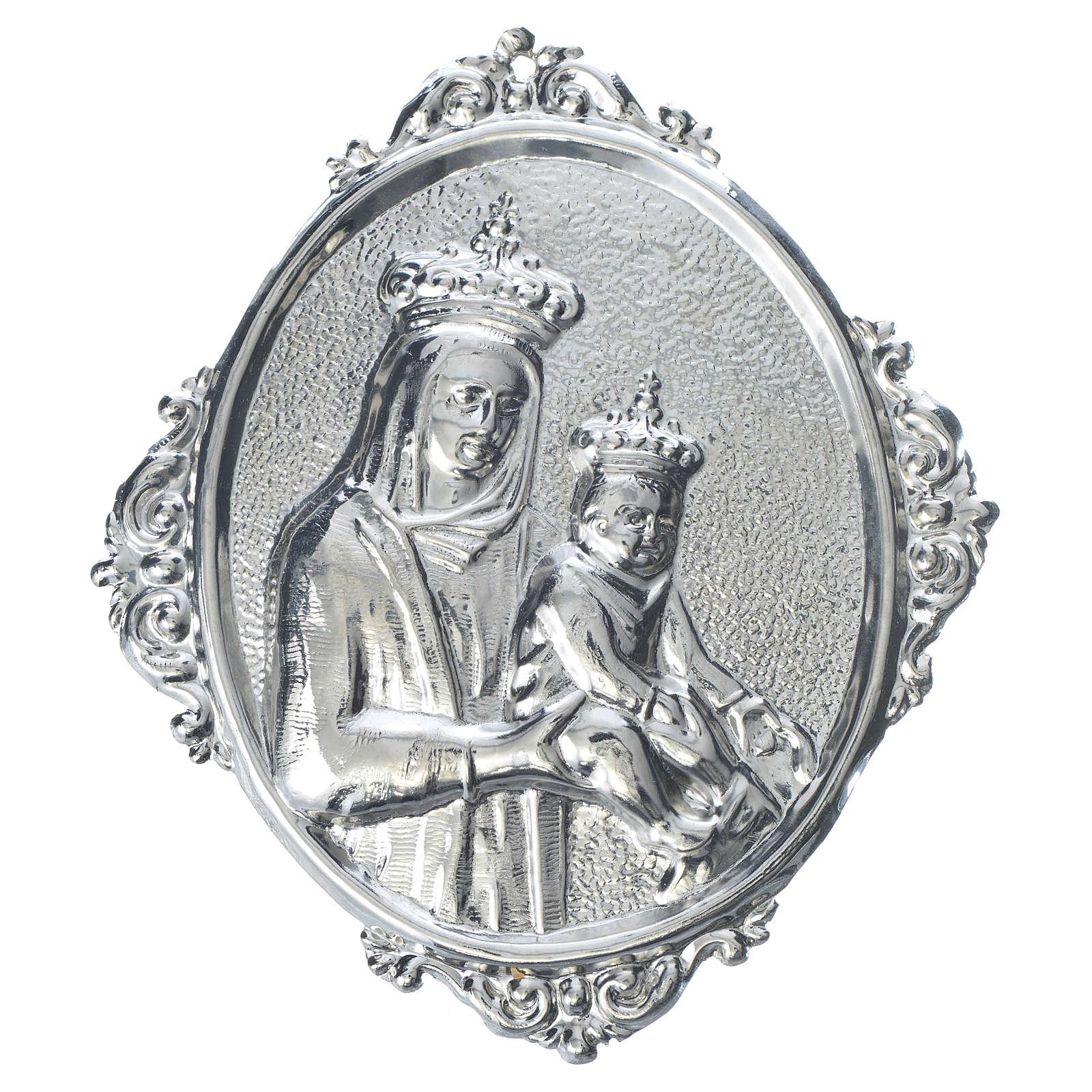 Médaillon confrérie religieuse Vierge à l'Enfant 3
