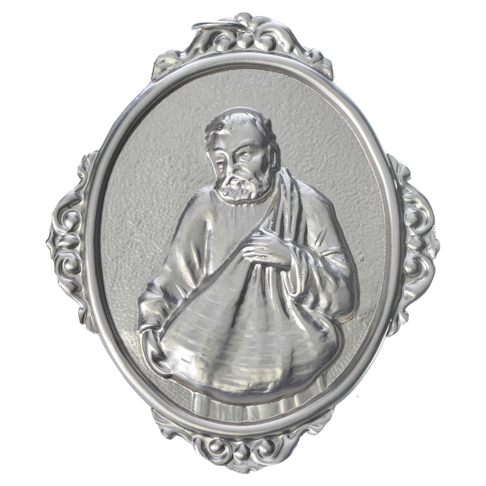 Medaglione confraternite San Felice ottone 3