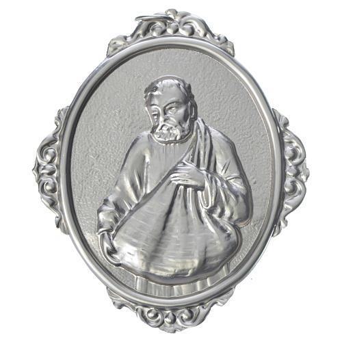 Medaglione confraternite San Felice ottone 1