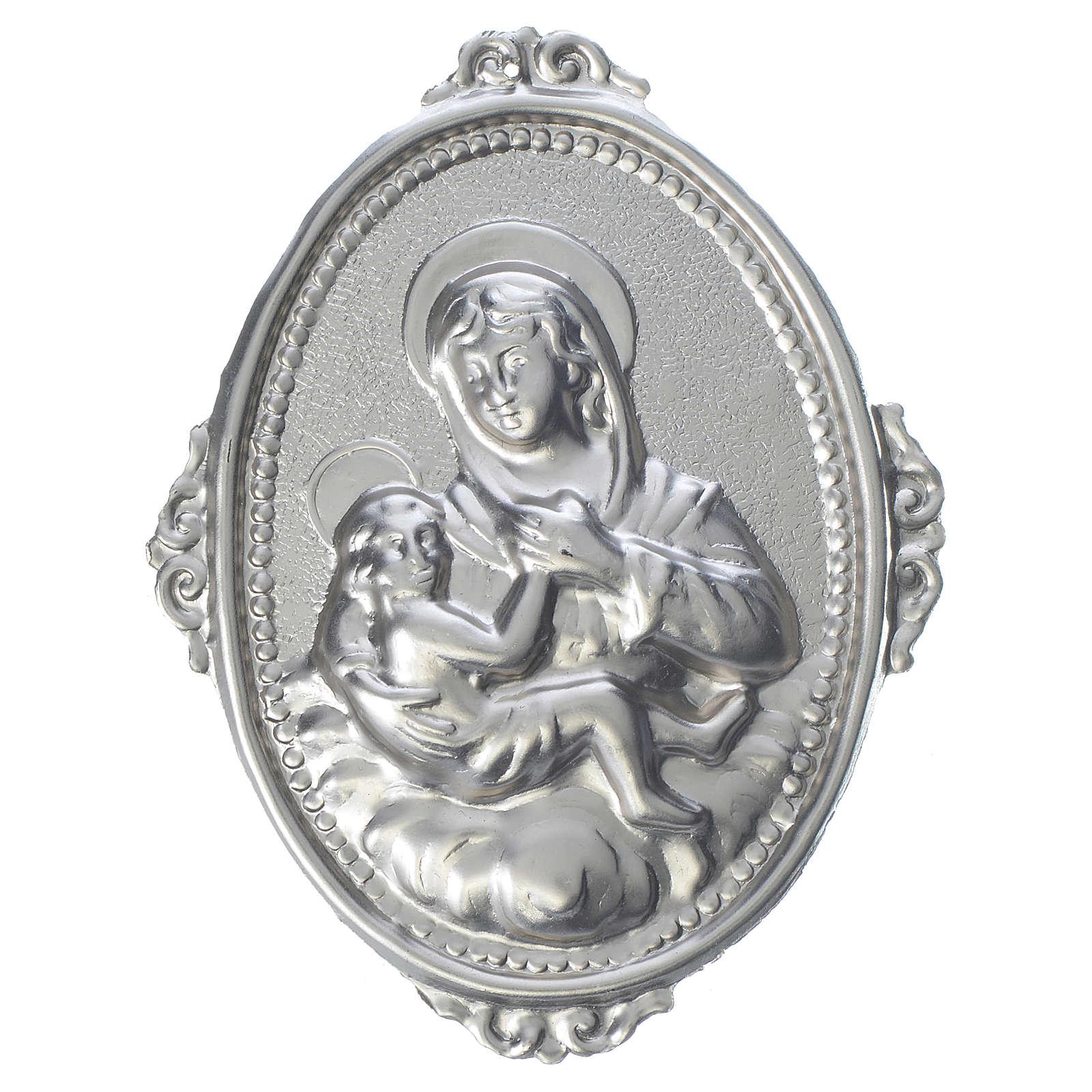 Medaglione per confraternite Madonna delle Grazie con bimbo 3