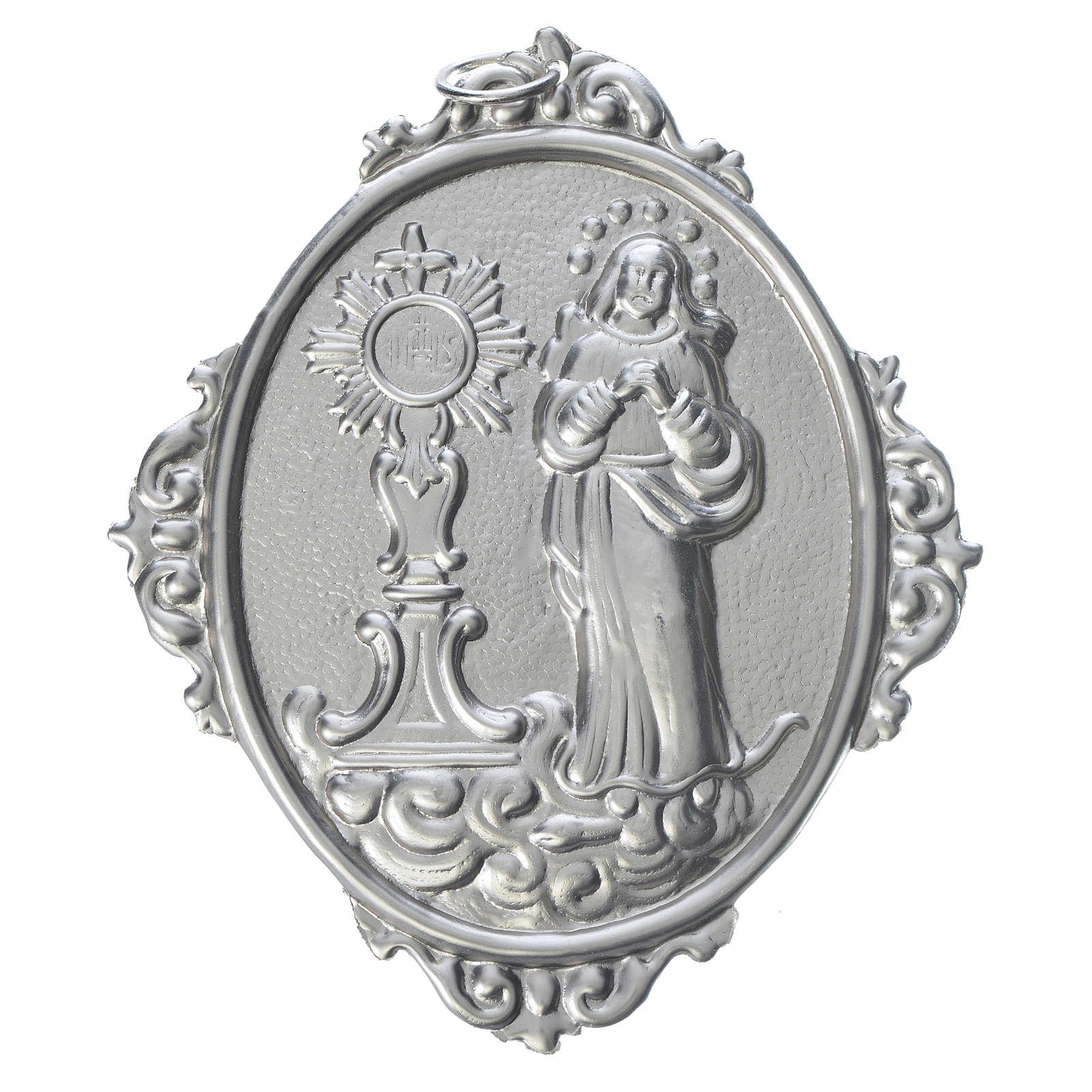 Médaille de confrérie Immaculée et Ostensoir romain 3