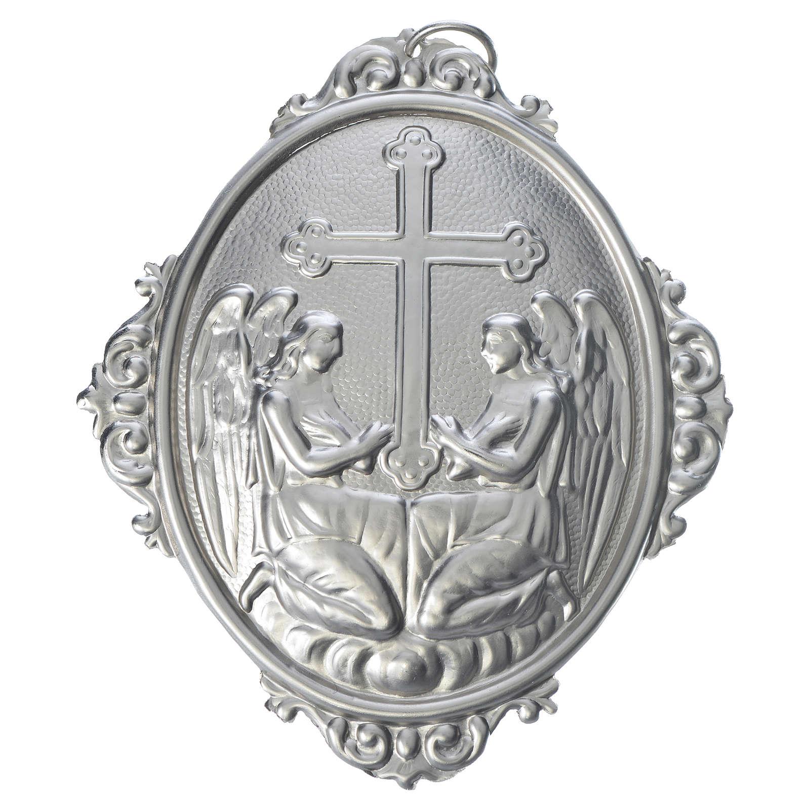 Medalla cofradía Angeles con cruz latón 3