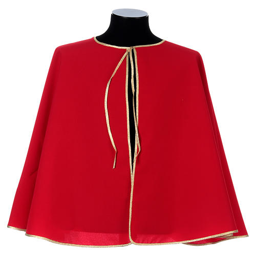 Confraternity cape bordered with gold bias 1