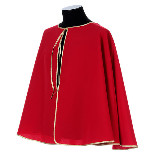 Confraternity cape bordered with gold bias 2
