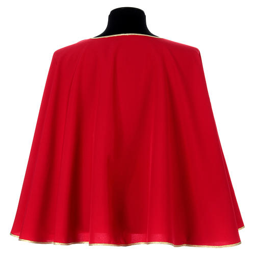 Confraternity cape bordered with gold bias 3