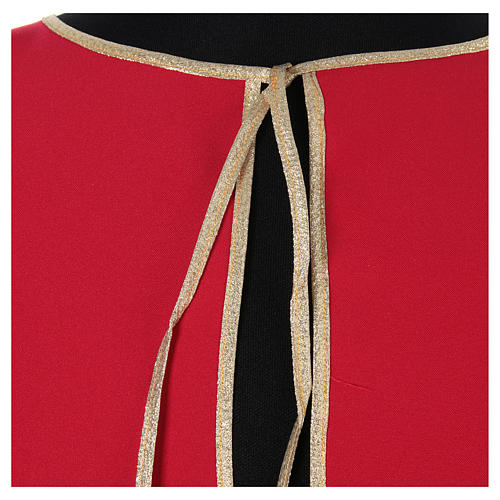 Confraternity cape bordered with gold bias 4
