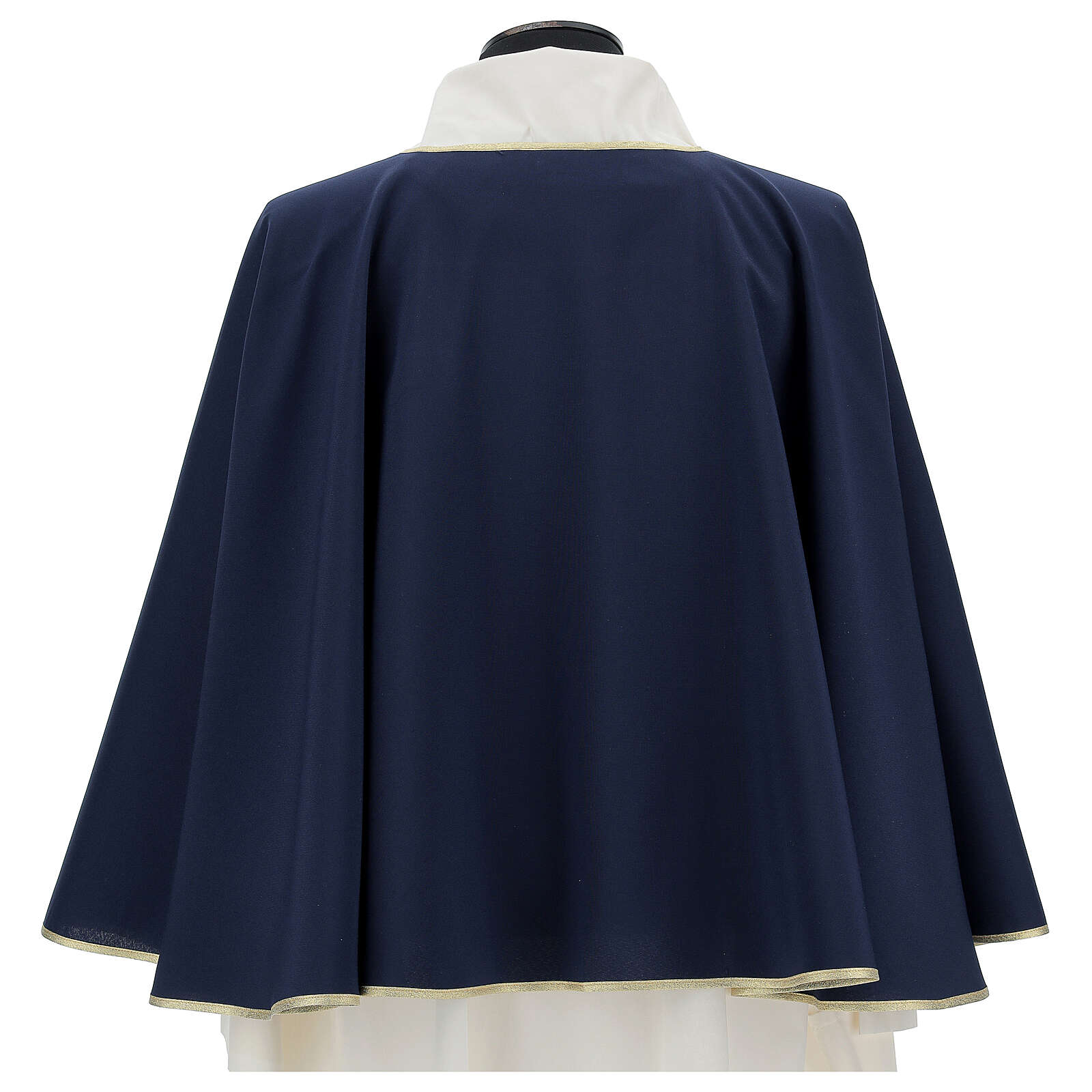 Brotherhood cape in 100% blue polyester 3