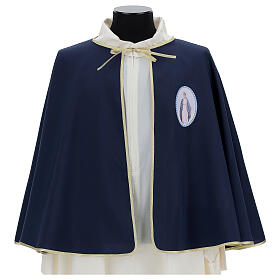 Brotherhood cape in 100% blue polyester s1