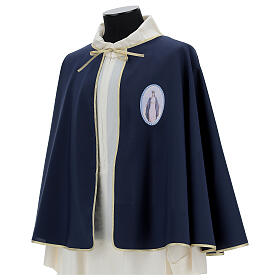 Brotherhood cape in 100% blue polyester s3