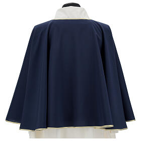 Brotherhood cape in 100% blue polyester s5