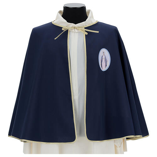 Brotherhood cape in 100% blue polyester 1