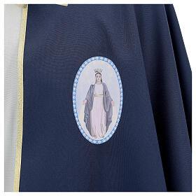 Mantella per confraternita 100% poliestere blu bordo oro s2
