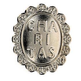 Medallón de metal para cofradía Caritas s1