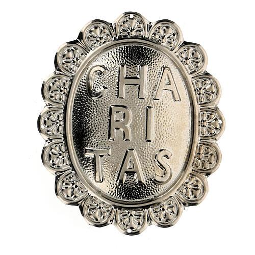 Medallón de metal para cofradía Caritas 1