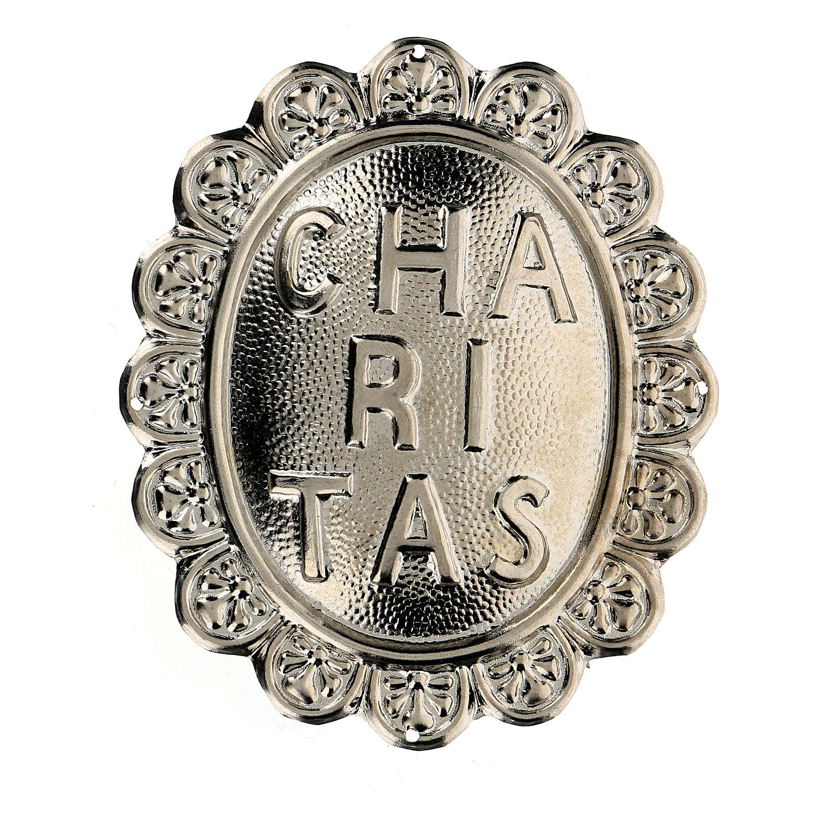 Medaglione in metallo per confraternita Caritas 3