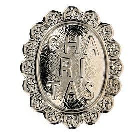 Medaglione in metallo per confraternita Caritas s1