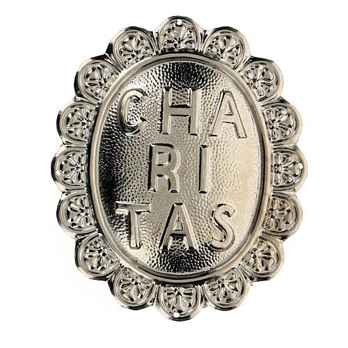 Medaglione in metallo per confraternita Caritas 1