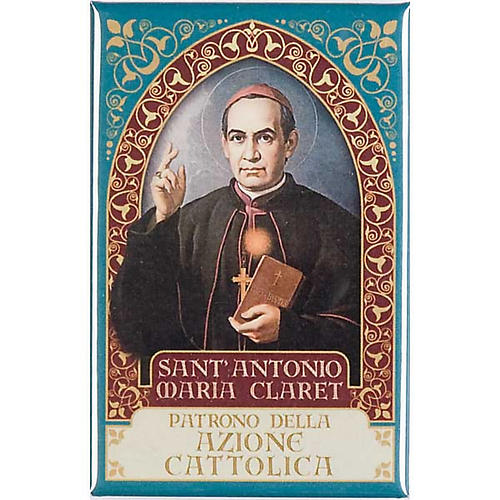 Saint Anthony Maria Claret magnet, gold 1